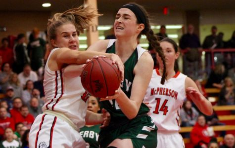 Varsity girls basketball at McPherson photo gallery