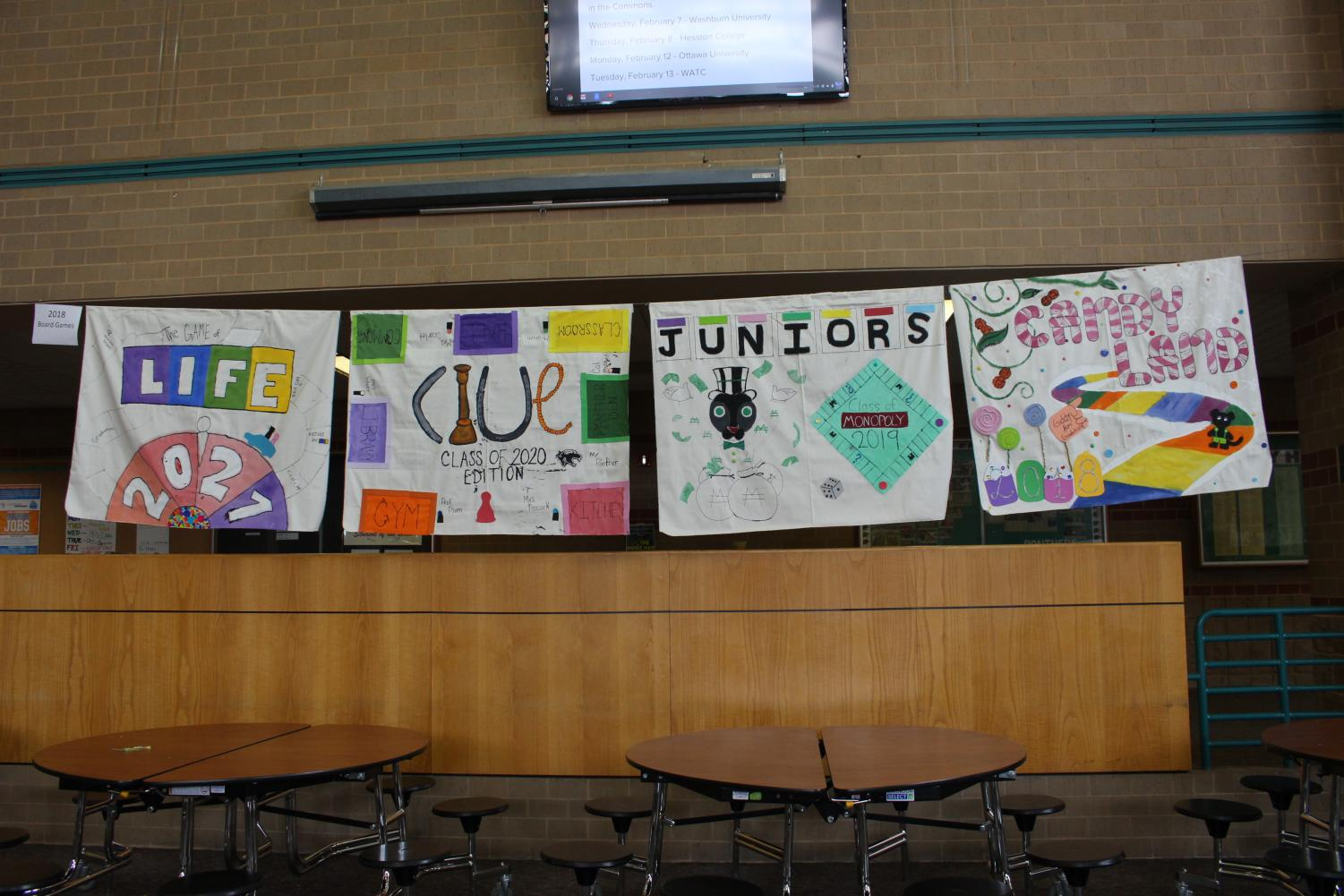 Winter Olympics class posters (photos by Courtney Brown)