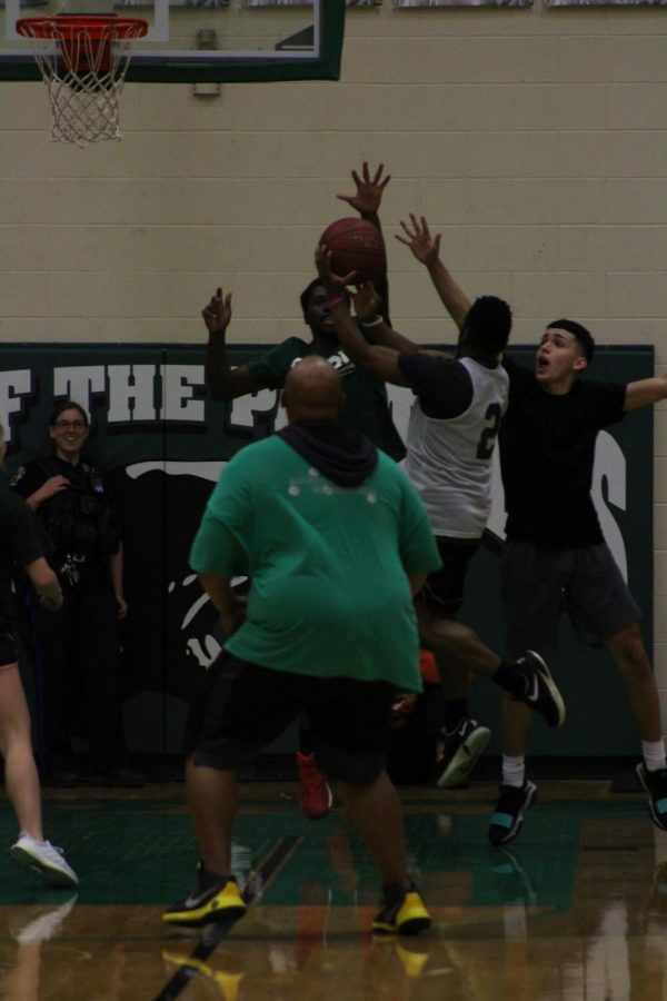 Seniors vs. staff basketball game (Photos by Abby Glanville)