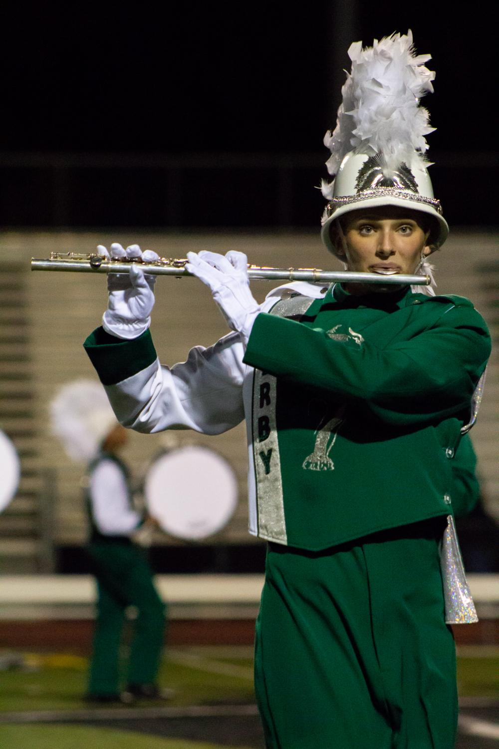 Senior Brianna Reeves plays the flute. Reeves has been in the marching band since her freshman year and her brother, sophomore Cooper Reeves, plays trumpet in the band.