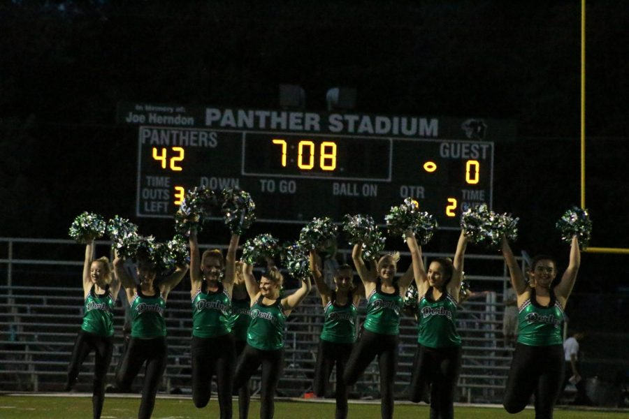 The+Pantherettes+perform+at+halftime%2C+with+Derby+winning+42-0.