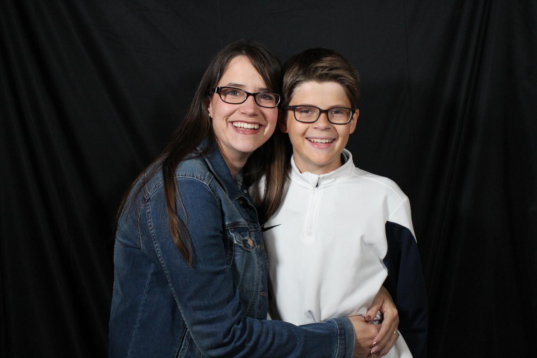 Teacher Katherine Murphy and son, Tyler Murphy, who is a freshman.