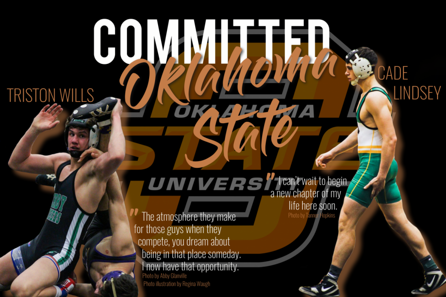 Senior+wrestlers+Triston+Wills+and+Cade+Lindsey+have+both+committed+to+Oklahoma+State+University.