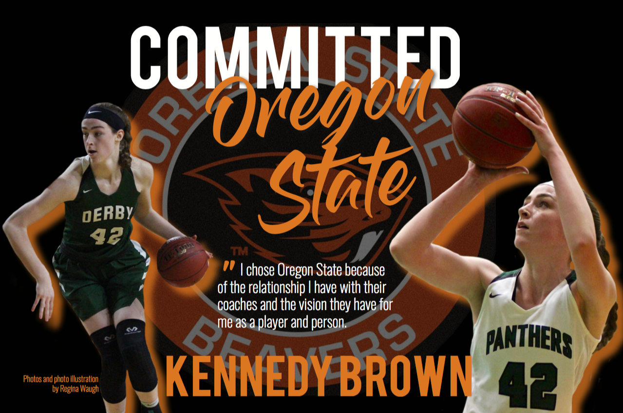 Senior basketball star Kennedy Brown has committed to Oregon State University.