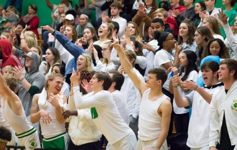 12/04/18 Derby vs. Ark City cheer, dance, student section, band