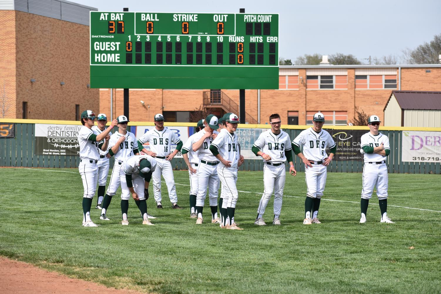 4/9/19 Derby Varsity Baseball vs. Hutchinson (photo gallery by Damien Matmanivong)