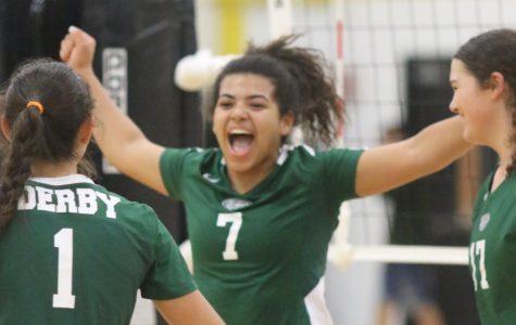 Derby varsity volleyball v. Campus (Photos by Mersadie Kiewel)