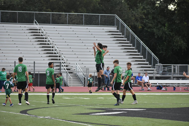 Boys varsity soccer vs Kapaun Mt Carmel