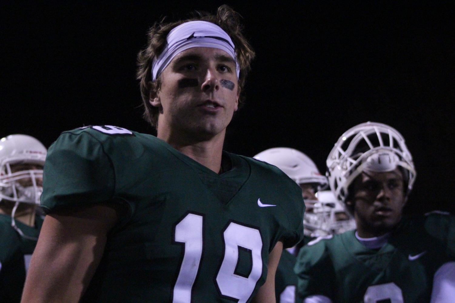 Jacob Carsack watches the game
