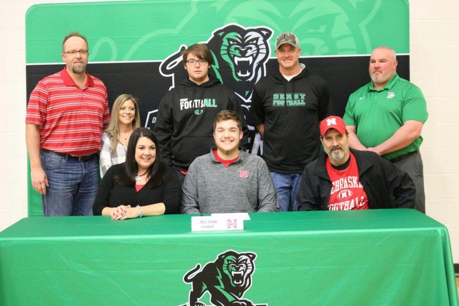 Alex Conn signs with Nebraska football