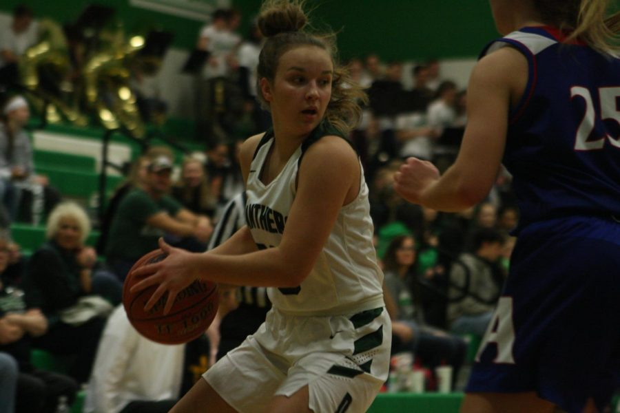 Girls varsity basketball Derby vs. Andover (photos by Reese Cowden)