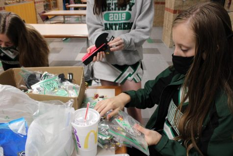 Cheerleaders Giving Out Football Tags (Photos by Josie Nussbaum)