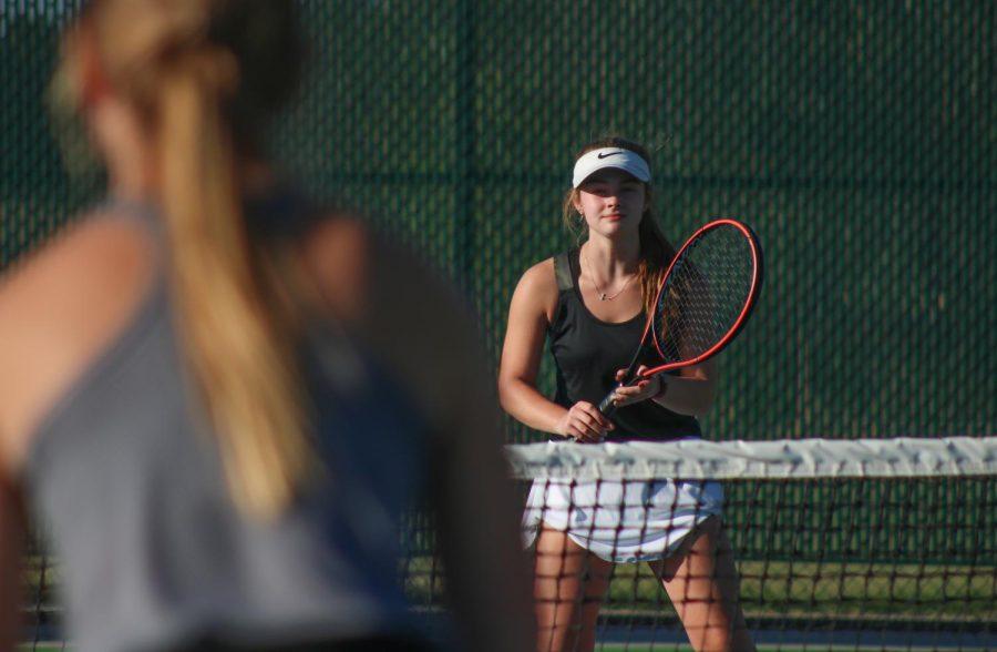 Girls Varsity Tennis at Campus (photo gallery by Sara Brown)