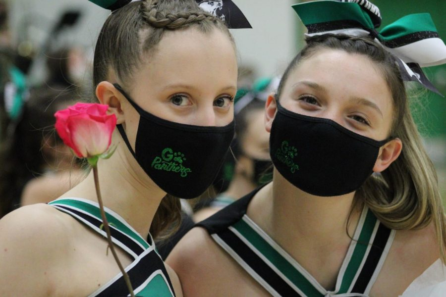 Varsity Cheer 2/12/21 (Photos by Joselyn Steele)