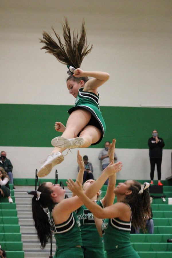 Varsity Cheer 2/5/21 (Photos by Josie Nussbaum)