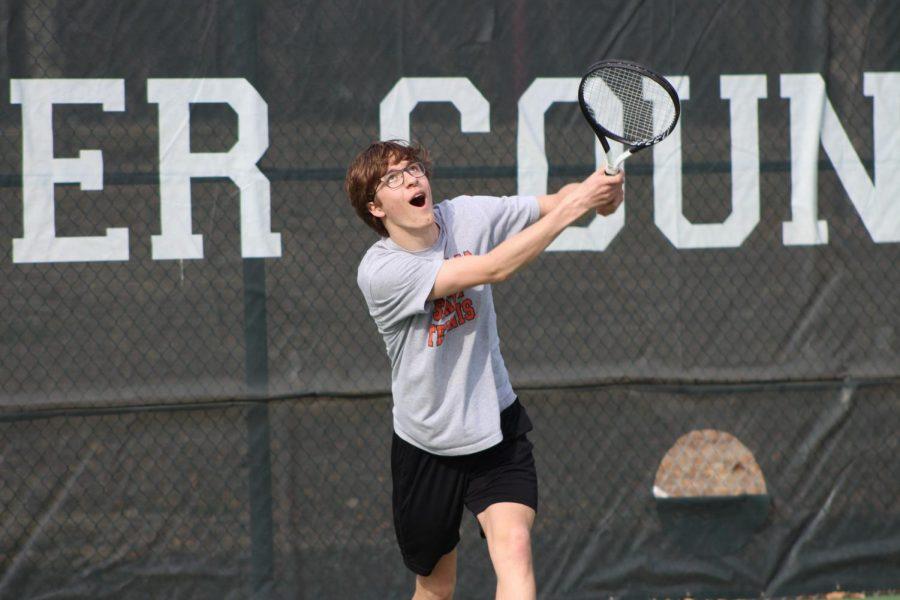 Boys Tennis Practice 3/8 (Photos by Kiley Hale)