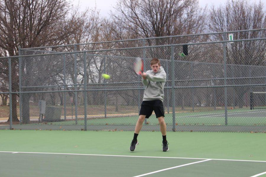 Tennis Practice 3/24 (Photos by Nik Shay)