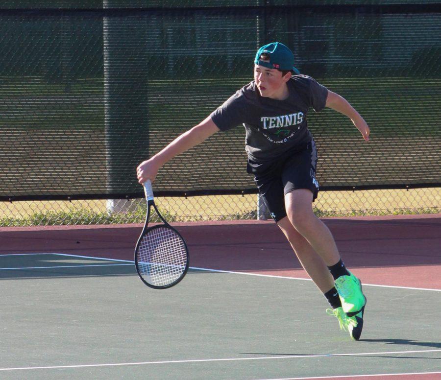Varsity Boys Tennis @ McPherson 3/30 (Photos by Kiley Hale)