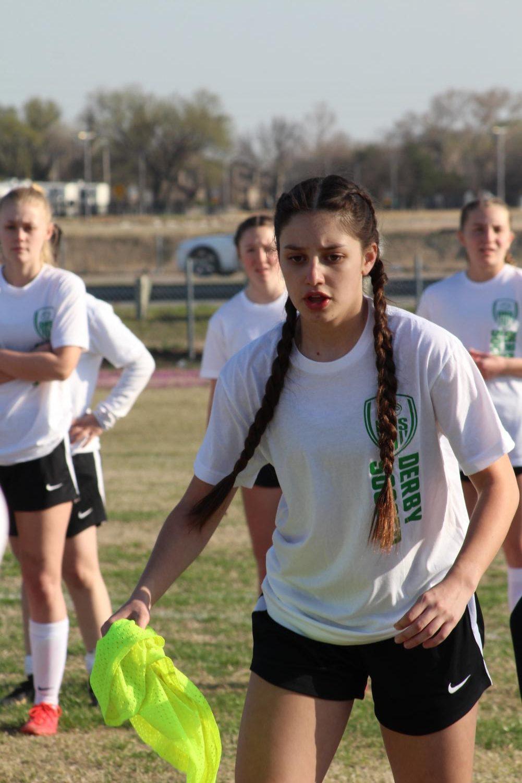 Derby+girls+soccer+Vs.+Bishop+Carroll%28Photos+By+Alondra+Lopez%29