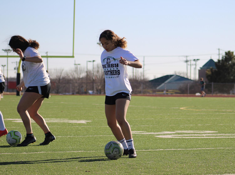 Girls+Soccer+Tryouts+3%2F2%2F21+%28Photos+by+Joselyn+Steele%29