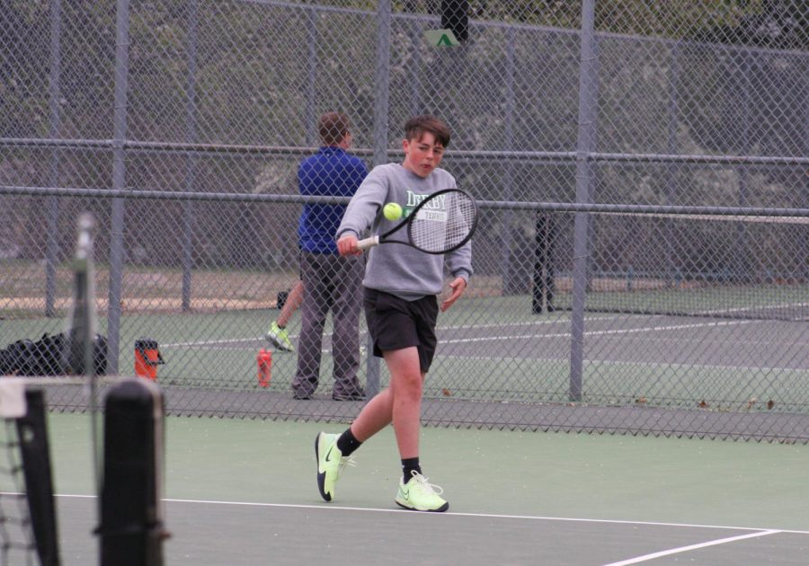 Home tennis meet 4-15 (photos by Hailey Jeffery)
