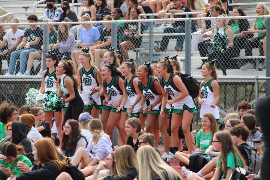 Pep Assembly Cheerleaders 9/10/21 (Photos by Josie Nussbaum)