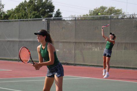 Varsity and JV Tennis at Emporia (photos by Hailey Jeffery)