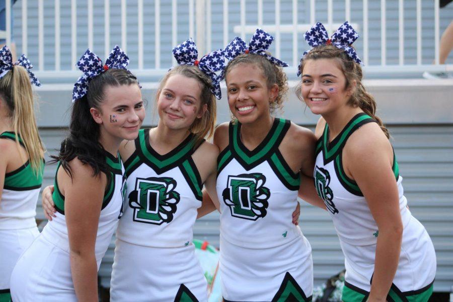 Varsity and JV Cheer at Football 9/10/11 (Photos by Josie Nussbaum)