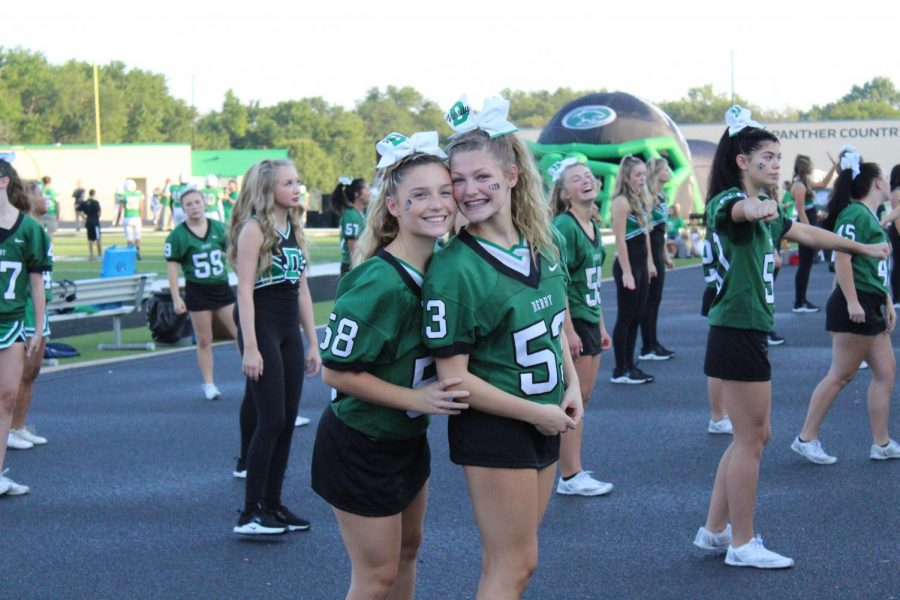 Derby Cheer and Dance Team at Homecoming Football Game (Photos by Agness Mbezi)