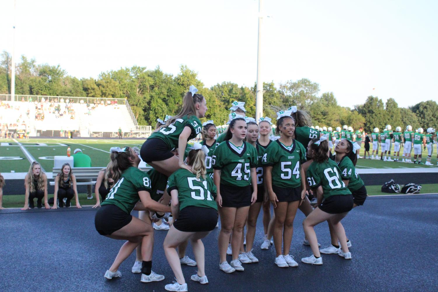 Derby+Cheer+and+Dance+Team+at+Homecoming+Football+Game+%28Photos+by+Agness+Mbezi%29