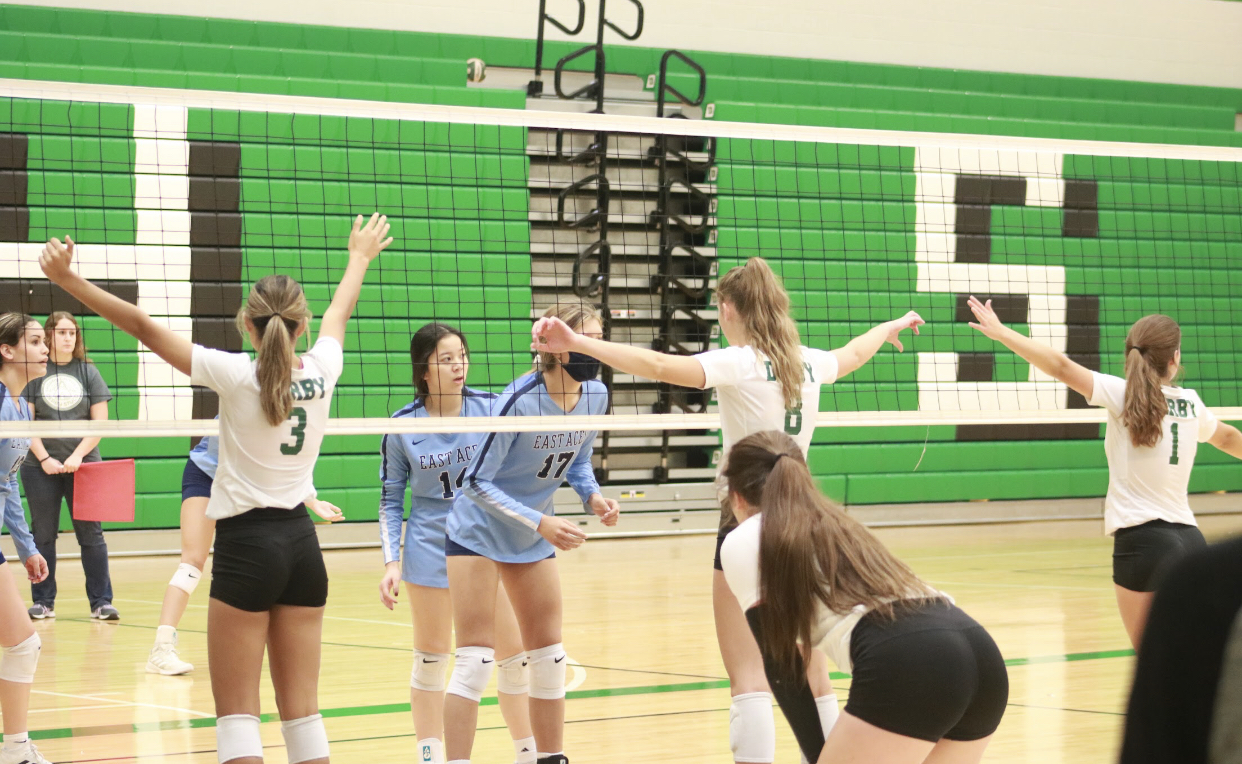 Varsity+Volleyball+v.+Wichita+South+and+Wichita+East+%28Photos+by+Kaidence+Williams%29