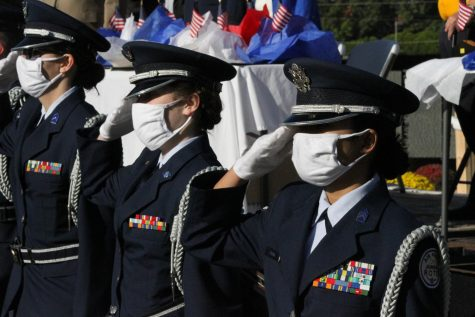 AFJROTC escorted Honor Guard for the Moving Wall ceremony (Photos by Frani Medina)