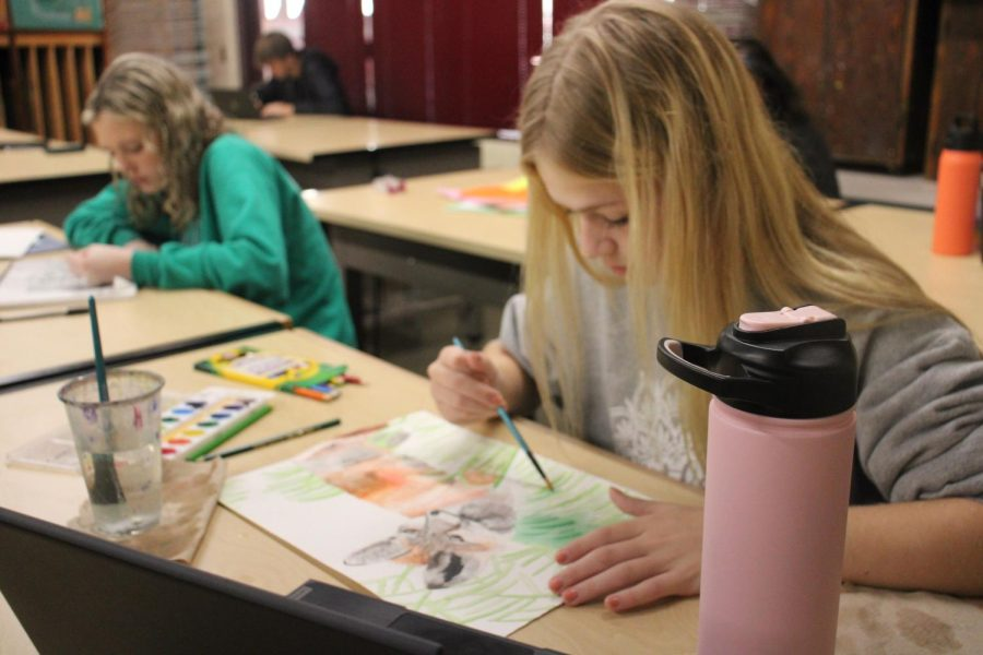 Drawing and painting fundamentals 10/7 (Photos by Alyssa Lai)